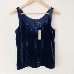 J Crew Velour Tank Top Blouse